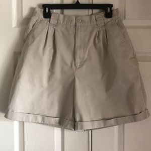 Vintage Pleated Khaki Shorts, Size 12